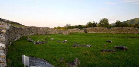 arhitecture: Ulpia Traiana Sarmisegetusa Ancient Amphitheatre Ruins In Romania Hateg Country