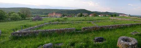 vestige: Ulpia Traiana Sarmisegetusa Ancient Ruins In Romania Hateg Country Stock Photo