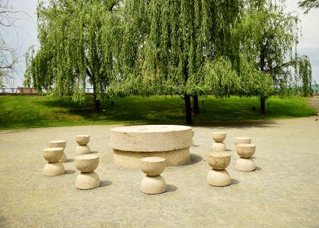 constantin: Silent Table artwork Constantin Brancusi in Targu Jiu Romania