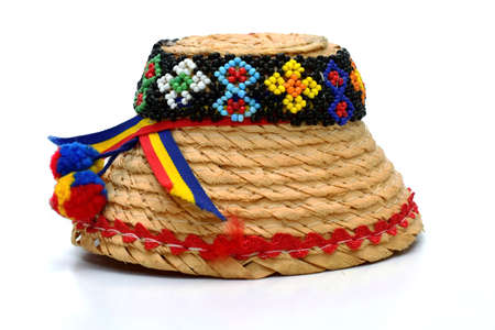 clop: Maramures Traditional hat on white background Stock Photo