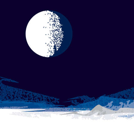 moon, background Stock Vector - 18600151