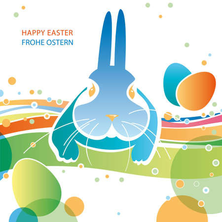 easter bunny greeting card Illustration