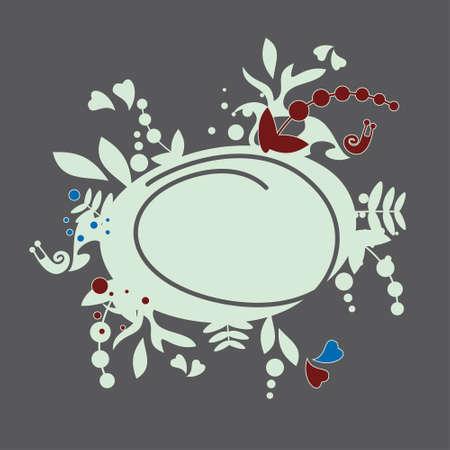 snail design, floral