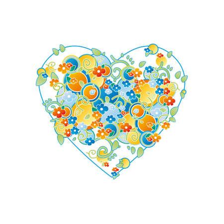 floral design, heart
