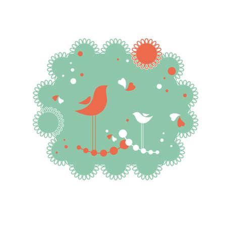 bird, heart, love, sun