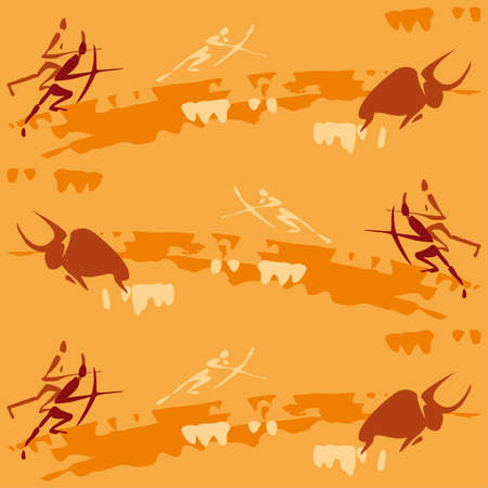 hunting scene, pattern