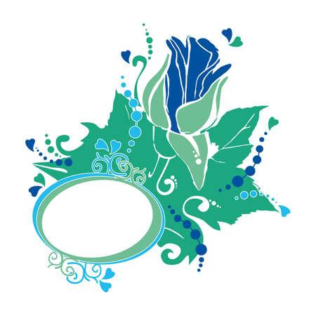 rose, floral design Illustration