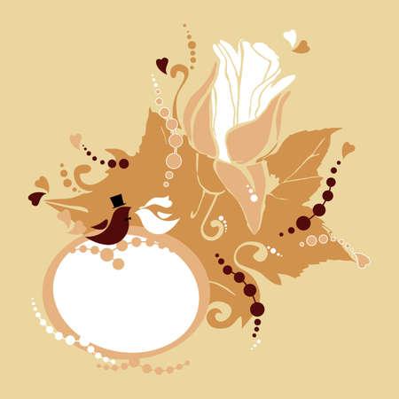 wedding, invitation Illustration