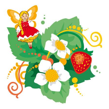 elf, fairy, strawberry