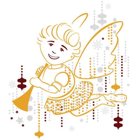 angel, merry christmas Illustration