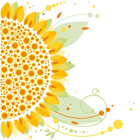 estaciones del año: girasol, diseño floral