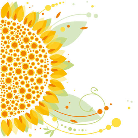 sunflower, floral design Vector