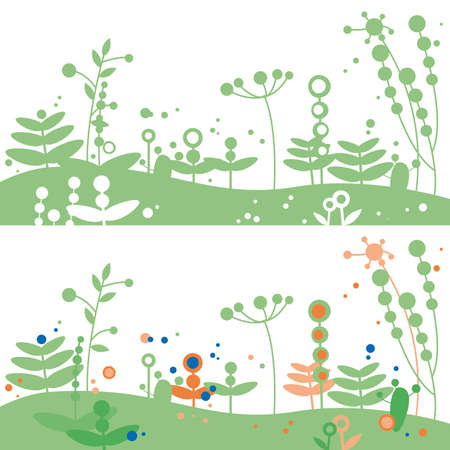 meadow illustration Ilustração