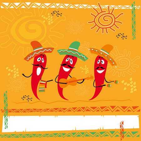 mexican food: cocina mexicana Vectores