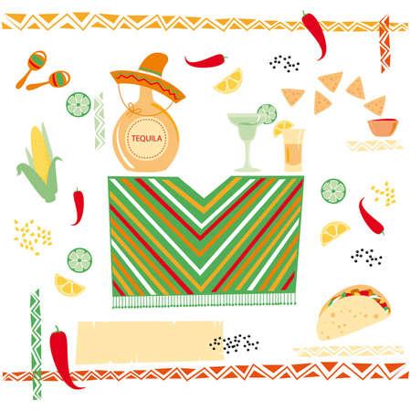 mexican cuisine Illustration