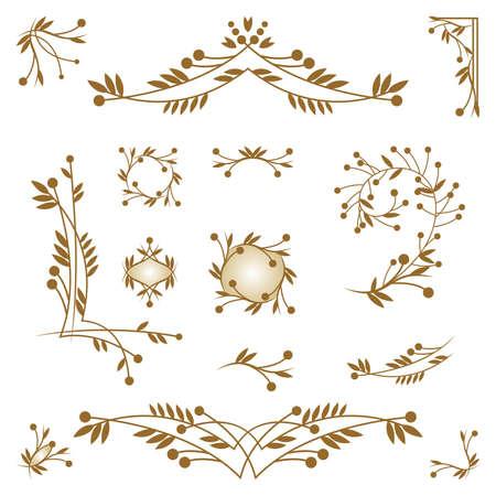 Set of ornamental design elements