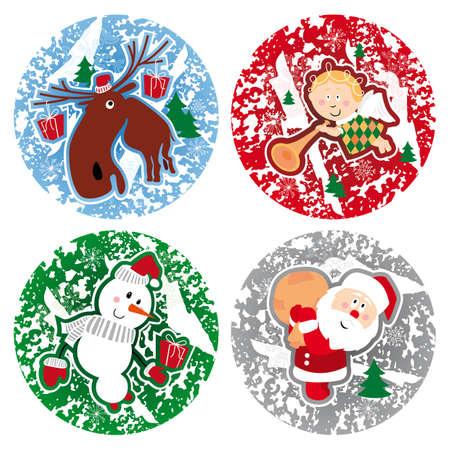 set of christmas illustrations Illustration