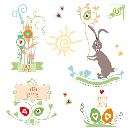 Happy Easter, graphic elements