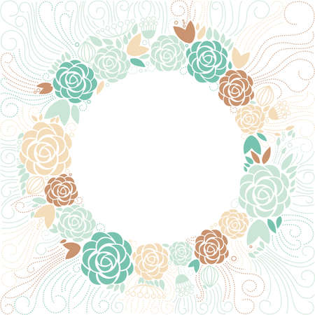 floral background, floral frame