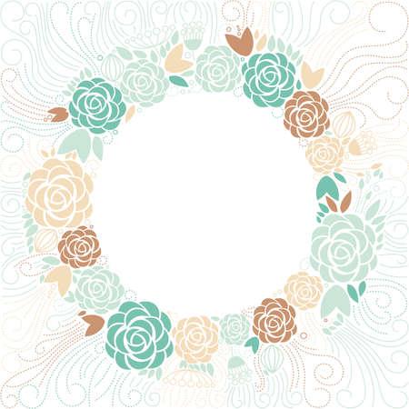 floral frame: floral background, floral frame