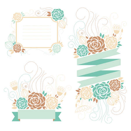 romantic frame, floral design
