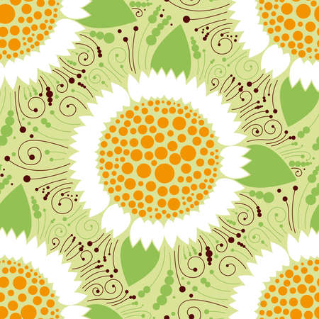 Seamless floral pattern, chamomile Illustration