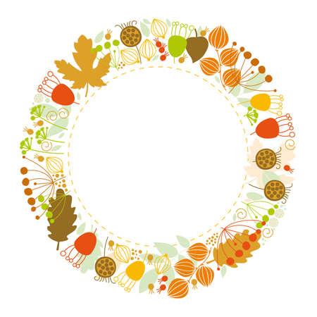 floral background, floral frame, autumn