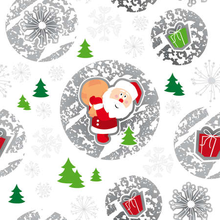 seamless pattern, merry christmas, santa claus Illustration