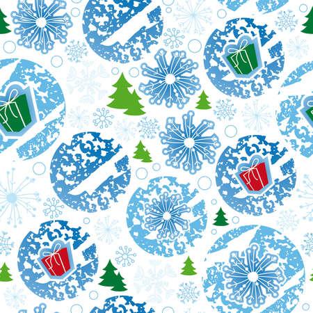 seamless pattern, merry christmas, snowflake Illustration