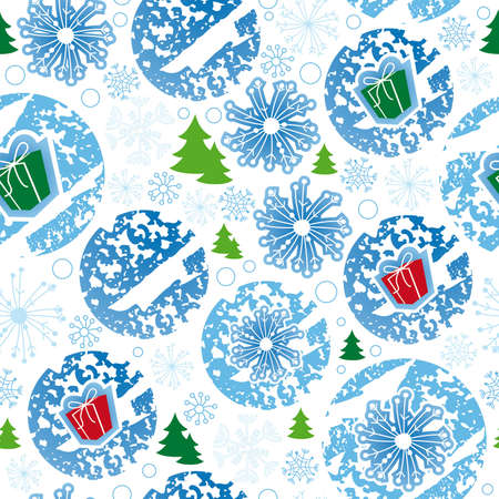 seamless pattern, merry christmas, snowflake Illustration