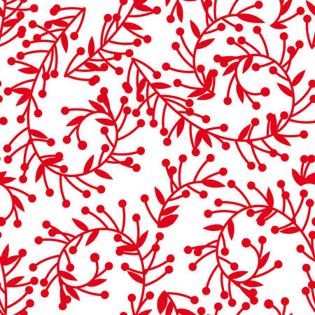 Seamless floral pattern, red