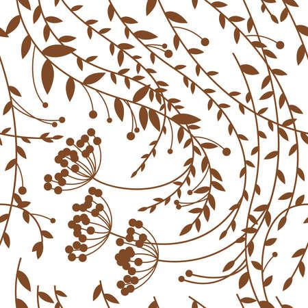 Seamless floral pattern, autumn Illustration