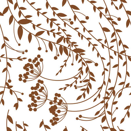 Seamless floral pattern, autumn Illustration
