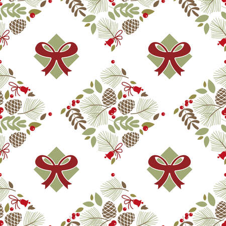 Seamless pattern, gift bow