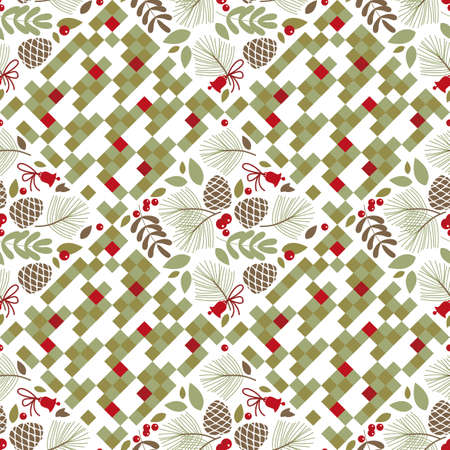 Seamless pattern, winter, autumn