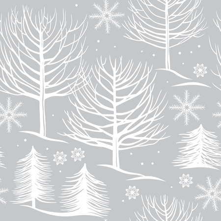 winter forest: seamless pattern, winter forest