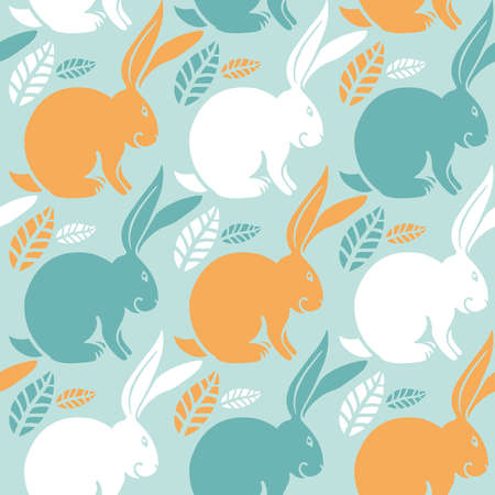 seamless pattern, bunny Illustration
