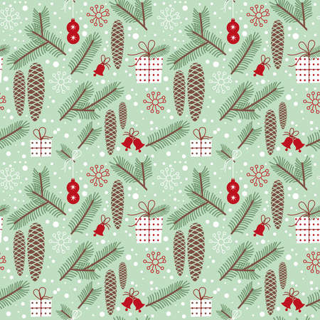 winter seamless pattern, fir Illustration