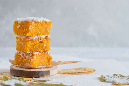 Autumn pastries, pies with pumpkin
