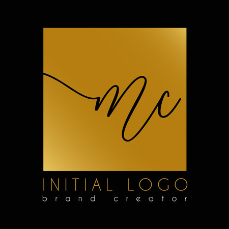 elegant initial Mc   letter  o template Illustration