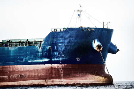 Cargo ship close-up, Baltic sea, Latvia