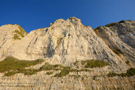 White cliffs on the beach of Fecamp, France