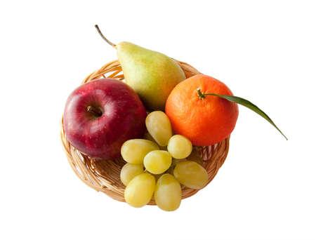 Fresh fruit on a platter photo