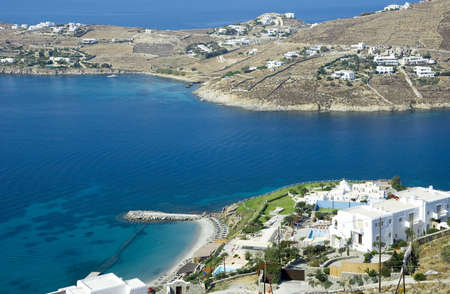 Aerial view of the hotel on the island of Mykonos in Greece Stock Photo - 6938066