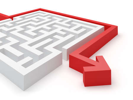 laberinto: Maze solución del rompecabezas Foto de archivo
