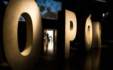 Gdansk, Poland - 12 April 2019; Exhibition inside the Museum of the Second World War Editorial
