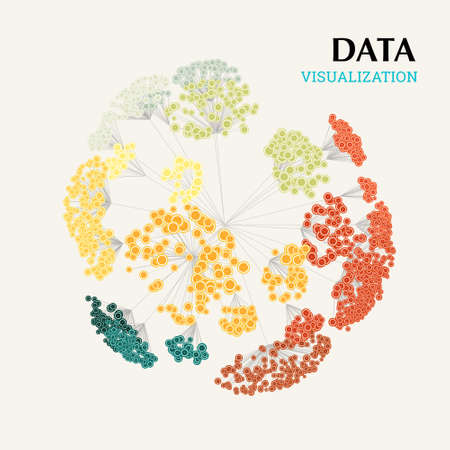 Data complexity representation. Big data concept visualization. Analytics abstract concept. Graphic background. Eps10