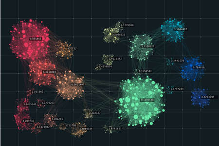 Data complexity representation. Big data concept visualization. Analytics abstract concept. Graphic background. Information clustering.