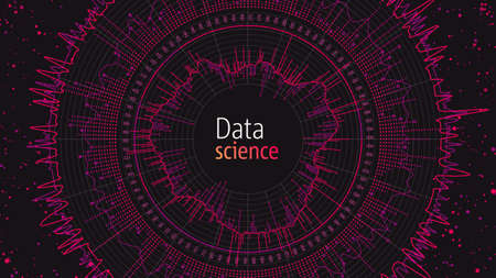 Data visualization concept. Infographics design. Analytics concept background. Beauty of data. Illusztráció