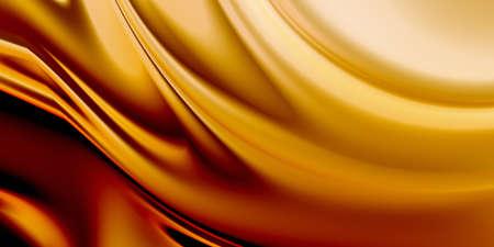 Luxury background. Smooth golden texture. 3D rendering. Imagens